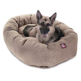 "Majestic Pet Velvet Bagel Pet Bed 52"" (Choose Your Color)"