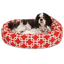 Majestic Pet Links Sherpa Bagel Pet Bed (Choose Size & Color)