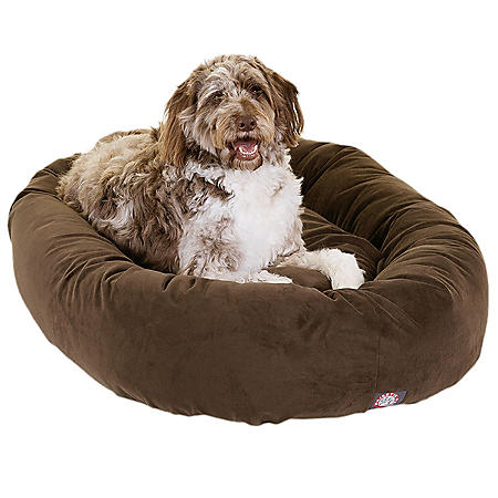 "Majestic Pet Suede Bagel Pet Bed, 52"" (Choose Your Color)"