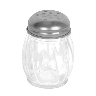 Excellanté Stainless Steel Perforated Swirl Cheese Shaker - 6 oz. - Set of 2