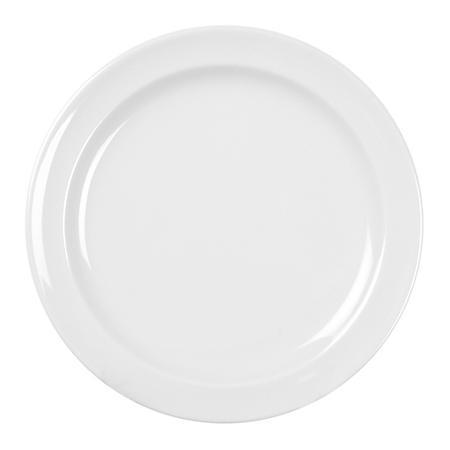 Excellante Melamine - Milan Round Plate - White - 12 pk. (Choose size)