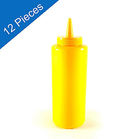 Squeeze Bottle - Yellow - 12 pk.