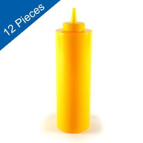 Squeeze Bottle - Yellow - 12 pk.
