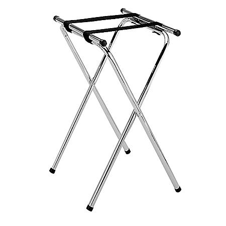 Double Bar Chrome Tray Stand