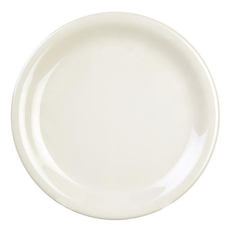 Melamine Narrow Rim Round Plate, Ivory - Various Sizes (12 pk.)