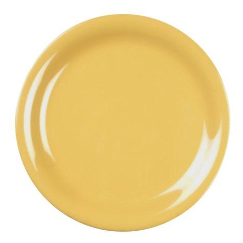 Melamine Narrow Rim Round Plate - Yellow - 12 pk. - Various Sizes