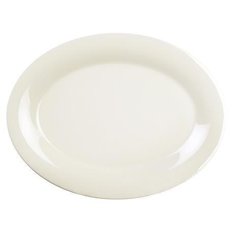 Excellante Melamine Oval Platter, Ivory - Choose Size (12 pk.)