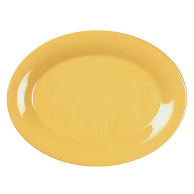 Melamine Oval Platter, Yellow - 12