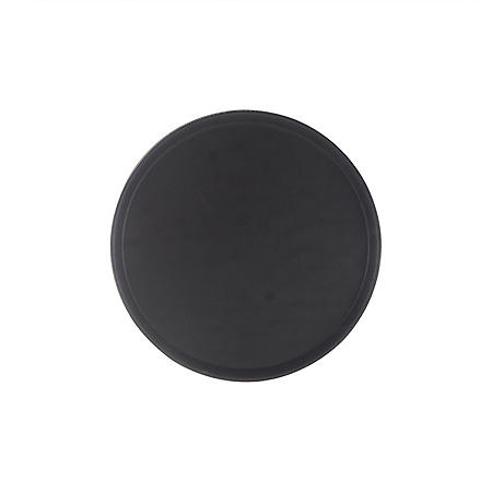 """16"""" Round Rubber-Lined Serving Tray - Black"""