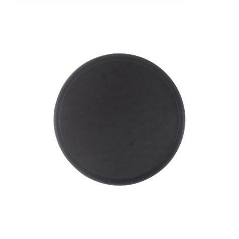 "16"" Round Rubber-Lined Serving Tray - Black"