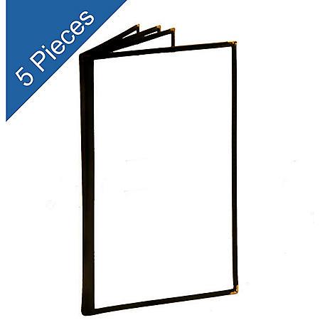 Menu Folder - 4 Pages w/ 8 Views - 5 pk. - Black