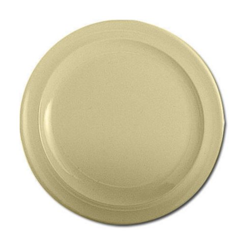 "Excellanté Melamine Tan Collection Round Dinner Plate - Tan - 10.25"" - 12 pc."