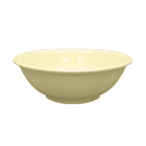 "Excellanté Melamine Collection Rimless Bowl  - Tan - 7.5"" -  30 oz. - 12 Pc."