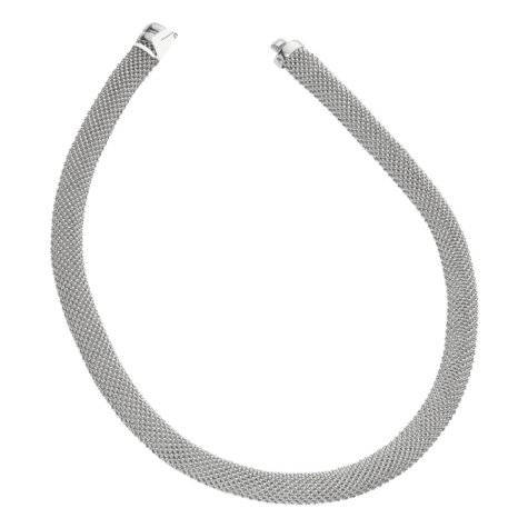 """Popcorn Mesh Necklace in Sterling Silver - 17"""""""