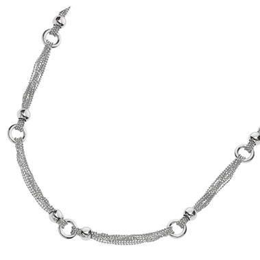 Fancy Link Fashion Necklace in Sterling Silver - 18