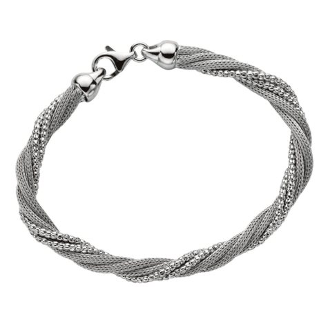 Five Strand Mesh Twist Bracelet in Sterling Silver