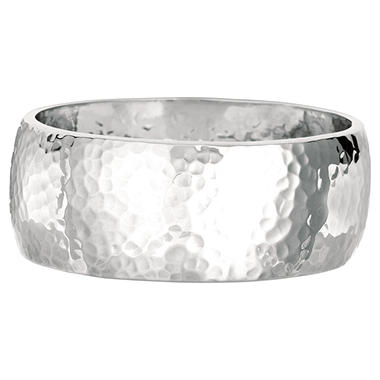 bangle bangles silver picture heart bracelets hammered sterling space with charm of