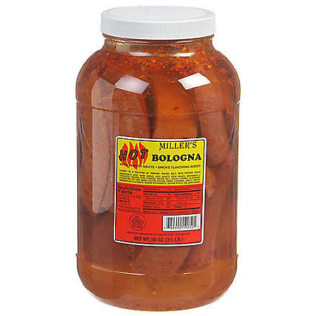 Miller's Hot Bologna - 56 oz. jar