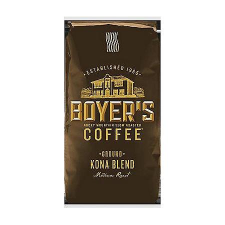 Boyer's Ground Coffee, Kona Blend (2.25 lb.)