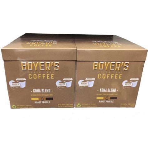 Boyer's Coffee Kona Blend (72 K-Cups)