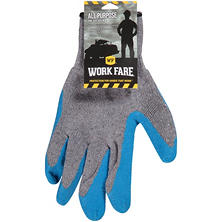 Work Fare All Purpose Latex Dipped Knit Gloves (1 pair)