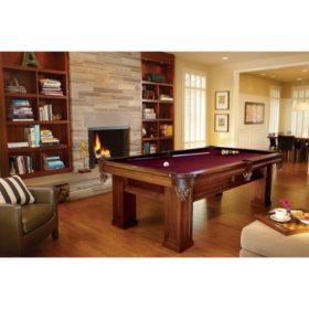 Brunswick Oakhill 8-Foot Billiard Table (Select Cloth)