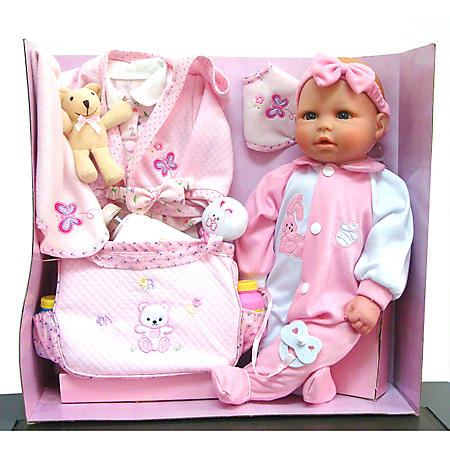 """Baby Allie 18"""" Doll with Diaper Bag"""