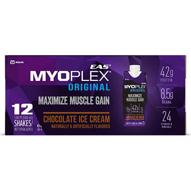EAS Myoplex Original Ready-to-Drink Shake, Chocolate Fudge (17 fl. oz, 12 pk.)