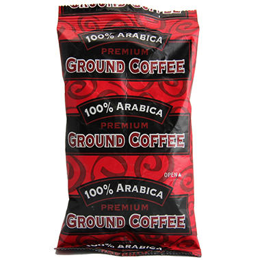 100% Arabica Ground Coffee, Bold Roast  (2.5 oz. Portion Packs, 84 ct.)