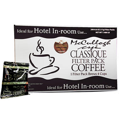 McCullagh Café Classique Premium Blend Coffee (200 ct.)