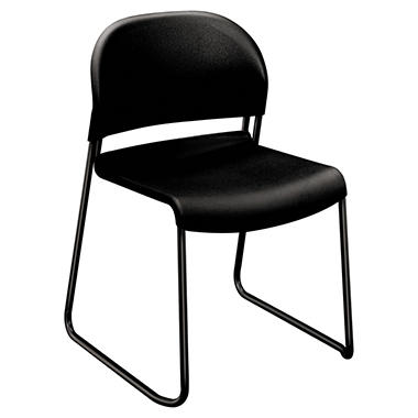 HON Guest Stacker Series Chair, Black (4 pk.)