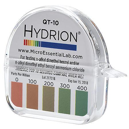 Hydrion QT-10 Quat Test Paper (0-400 PPM)