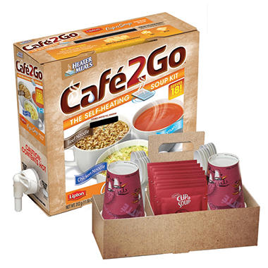 Cafe2Go Self-Heating Soup Kit, 6 pk.