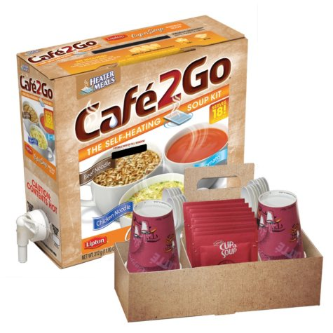 Cafe2Go Self-Heating Soup Kit, 6 pk.