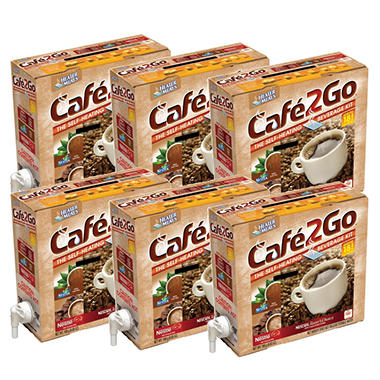 Cafe2Go Self-Heating Beverage Kit - Variety, 6 pk.