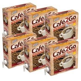 Cafe2Go Self-Heating Beverage Kit - Coffee, 6 pk.