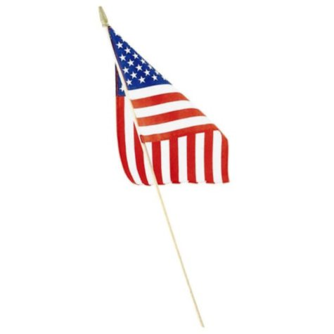 """Liberty Flag American Hand Flags, 8"""" X 12"""", 48 Pack"""