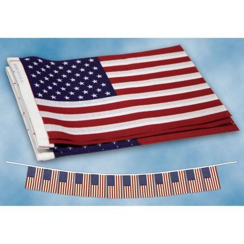 Liberty Flag, US Flag Garland 9'