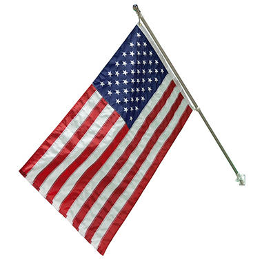 American Flag Kit, American Flag 3' X 5' Flag with 6' Aluminum Pole