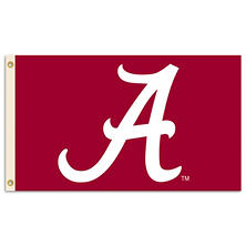 NCAA Alabama Crimson Tide 3' x 5' Flag with Pole Mount Kit