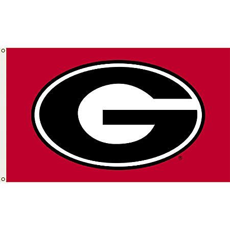 NCAA Georgia Bulldogs 3' x 5' Flag with Pole Mount Kit