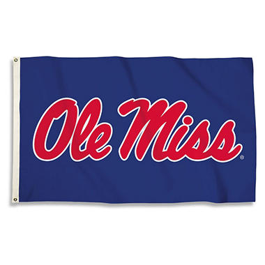NCAA Ole Miss Rebels 3' x 5' Flag with Pole Mount Kit