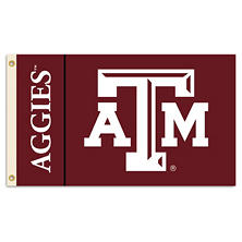 NCAA Texas A&M Aggies 3' x 5' Flag with Pole Mount Kit