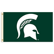 NCAA Michigan State Spartans 3' x 5' Flag with Pole Mount Kit