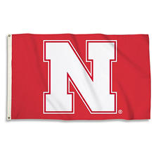 NCAA Nebraska Cornhuskers 3' x 5' Flag with Pole Mount Kit