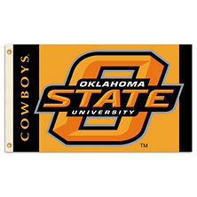 NCAA Oklahoma State Cowboys 3' x 5' Flag with Pole Mount Kit