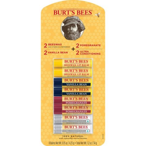 Burt's Bees 100% Natural Moisturizing Lip Balm, Variety Pack (0.15 oz., 8 ct.)