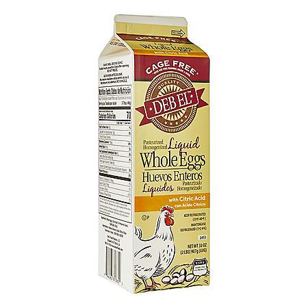 Deb El Cage Free Liquid Whole Eggs (32 oz.)