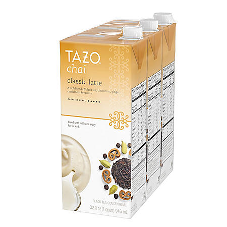 Tazo Chai Latte Concentrate Black Tea (32 oz., 3 pk.)