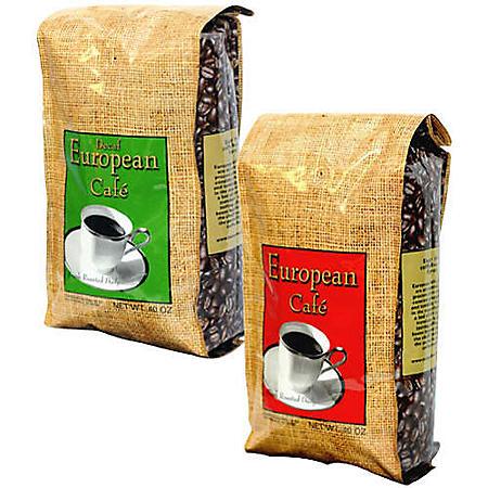 European Café™ Whole Bean Coffee Assorted -40oz